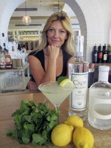 Bartender Ania Limanin mixes up the Kymatini.