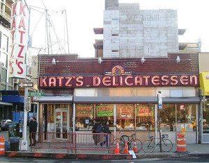 Katz's Delicatessen on the Lower East Side