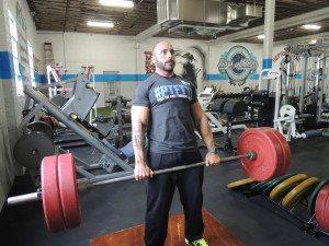 Noah Siegel believes in weight training.