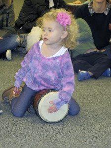 A child enjoys Drum Tales