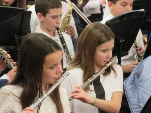 More than 60 fifth-to-seventh graders from Willets Road's Wind Ensemble performed at their annual holiday concert in the Hay Barn