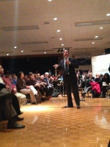 Jack Martins implored OTB to consider the Nassau Coliseum as an alternative site
