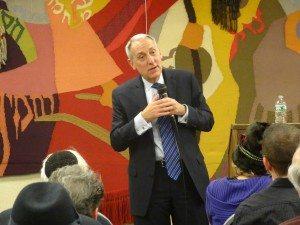 Hillel President Eric Fingerhut delivers his speech