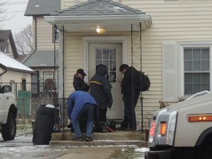 Nassau County Police are investigating a Mineola shooting this morning.
