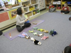 Children at the Roslyn Trinity Cooperative Day School recently completed the school's annual four-week yoga class.
