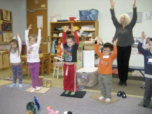 Students learned many skills in yoga classes.