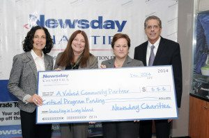 From left: Ellen Feldman, CAPS supervisor for education and training; Alane Fagin, Dale Cole,  community affairs project manager, Newsday and Paul Fleishman, vice president, public affairs, Newsday.
