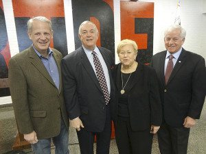 From left: Congressman Steve Israel, Roger Tilles of the New York State Board of Regents, Nassau County Legislator Judy Jacobs, Assemblyman Charles Lavine (Photos by Chris Boyle)
