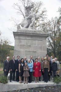 Last winter, local dignitaries attended the unveiling of the Mackay Horse Statue in Gerry Park.