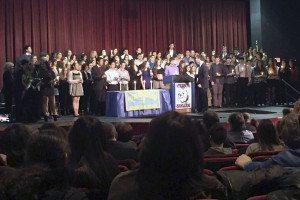 Roslyn High School Honor Society Induction February 2015