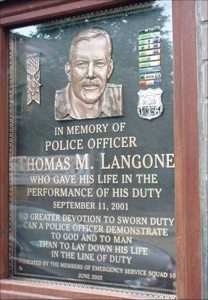 The Thomas Langone memorial plaque at Roslyn Rescue